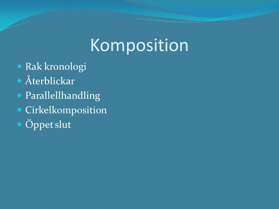 Komposition Rak kronologi Återblickar Parallellhandling Cirkelkomposition Öppet slut