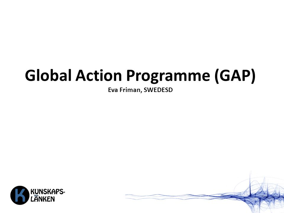 Global Action Programme (GAP) Eva Friman, SWEDESD