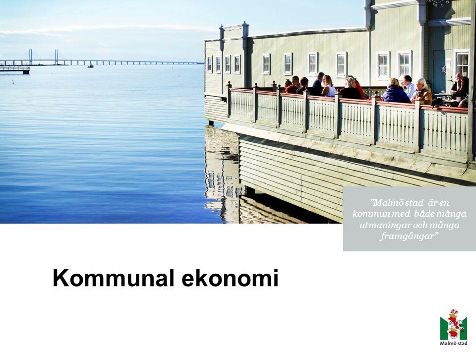 """Kommunal ekonomi """"Malmö stad är en kommun med både många utmaningar och många framgångar"""""""
