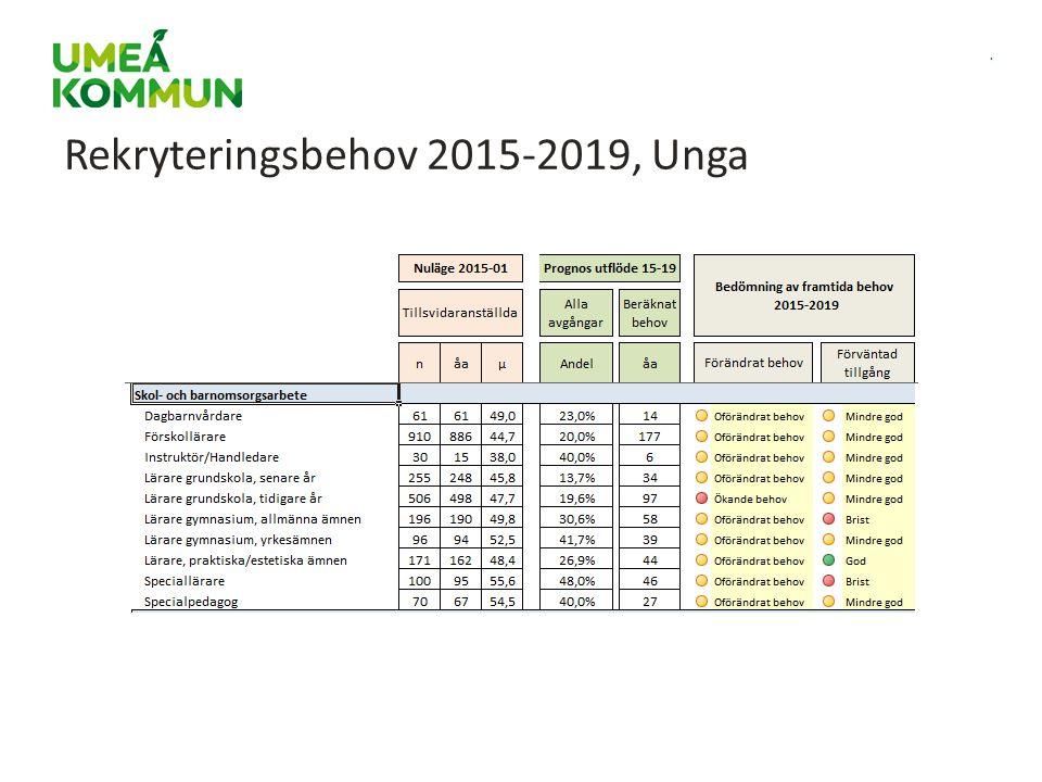 . Rekryteringsbehov 2015-2019, Unga