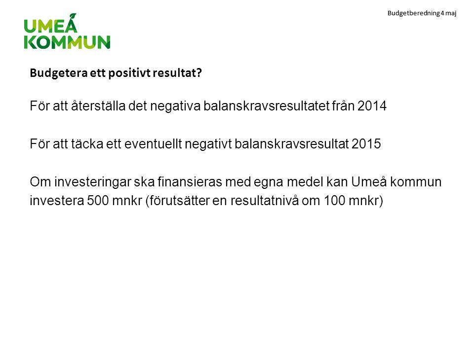 Budgetberedning 4 maj Mottagande i andra kommuner 2005-2011 antal per 1000 invånare Umeå7,2 Lund 7,3 Uppsala8,1 Luleå 11,4 Jönköping 12,0 Sundsvall12.3 Västerås16,5 Örebro19,2 Linköping19,5 Växjö25,6