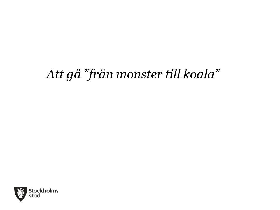 """Att gå """"från monster till koala"""""""