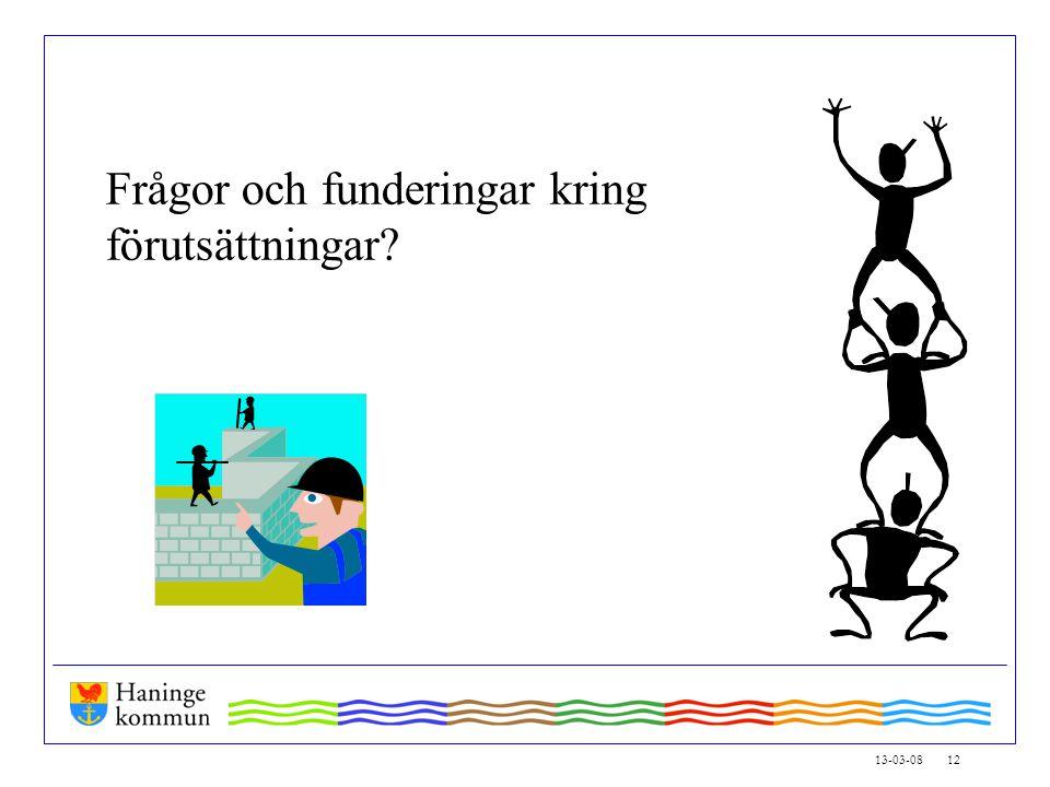 13-03-08 12 Frågor och funderingar kring förutsättningar