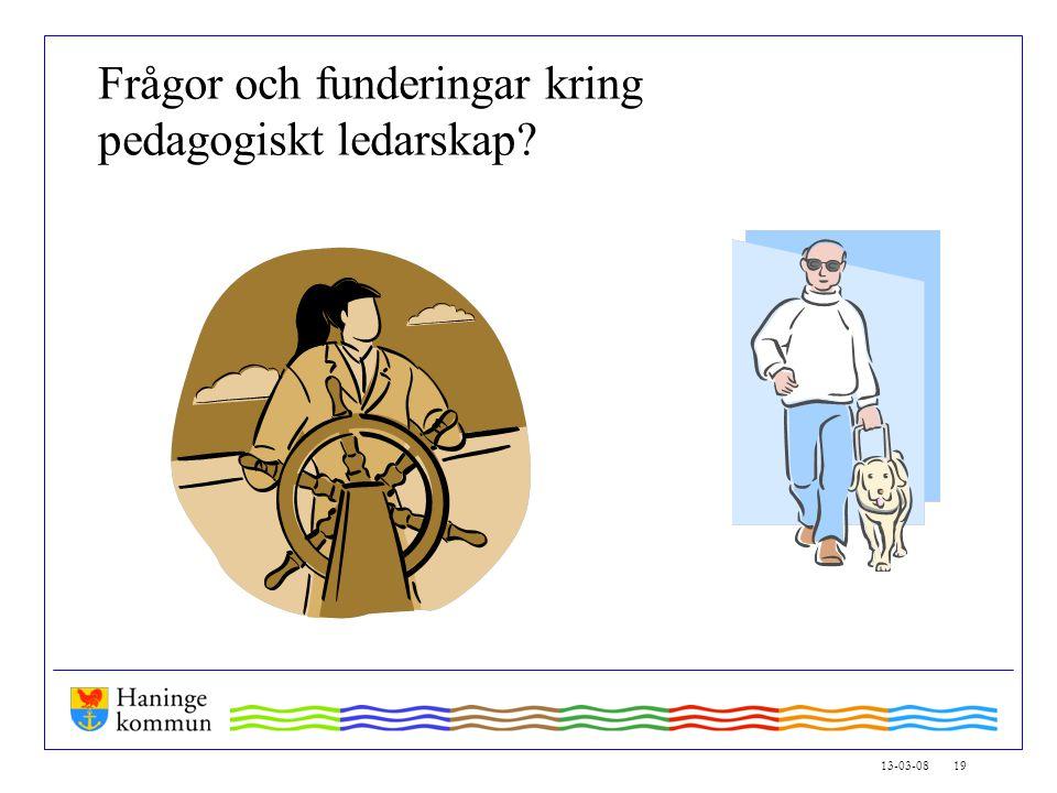 13-03-08 19 Frågor och funderingar kring pedagogiskt ledarskap
