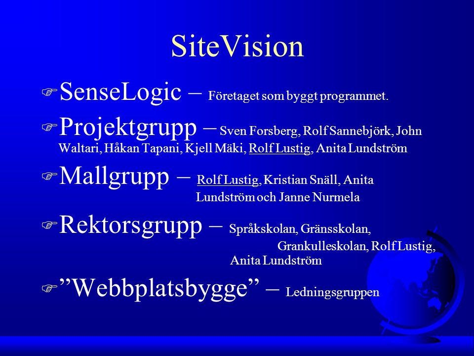 SiteVision F SenseLogic – Företaget som byggt programmet.