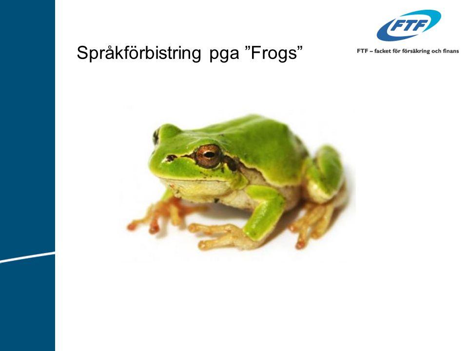 """Språkförbistring pga """"Frogs"""""""
