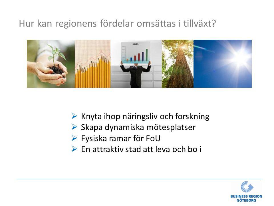 Hur kan regionens fördelar omsättas i tillväxt.