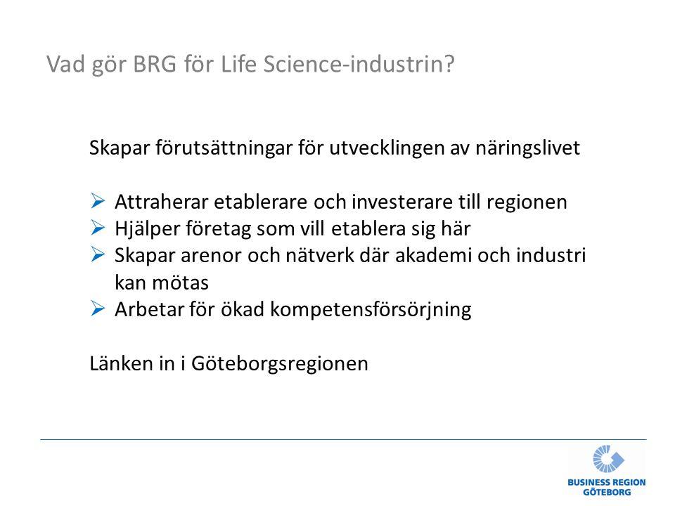 Vad gör BRG för Life Science-industrin.