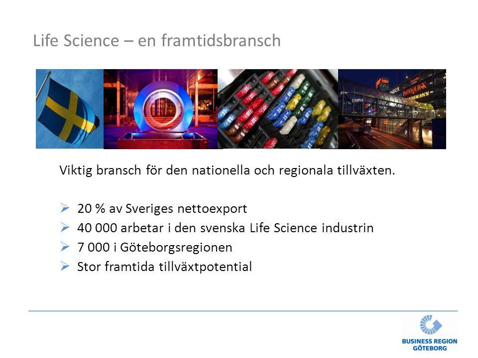 Life Science – en framtidsbransch Viktig bransch för den nationella och regionala tillväxten.