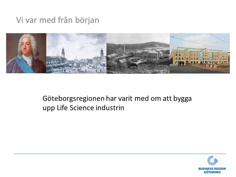Göteborgsregionen har varit med om att bygga upp Life Science industrin Vi var med från början