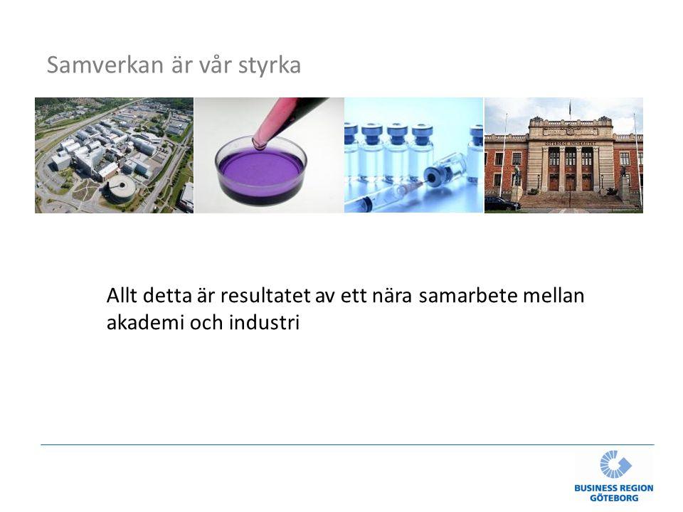 Allt detta är resultatet av ett nära samarbete mellan akademi och industri Samverkan är vår styrka