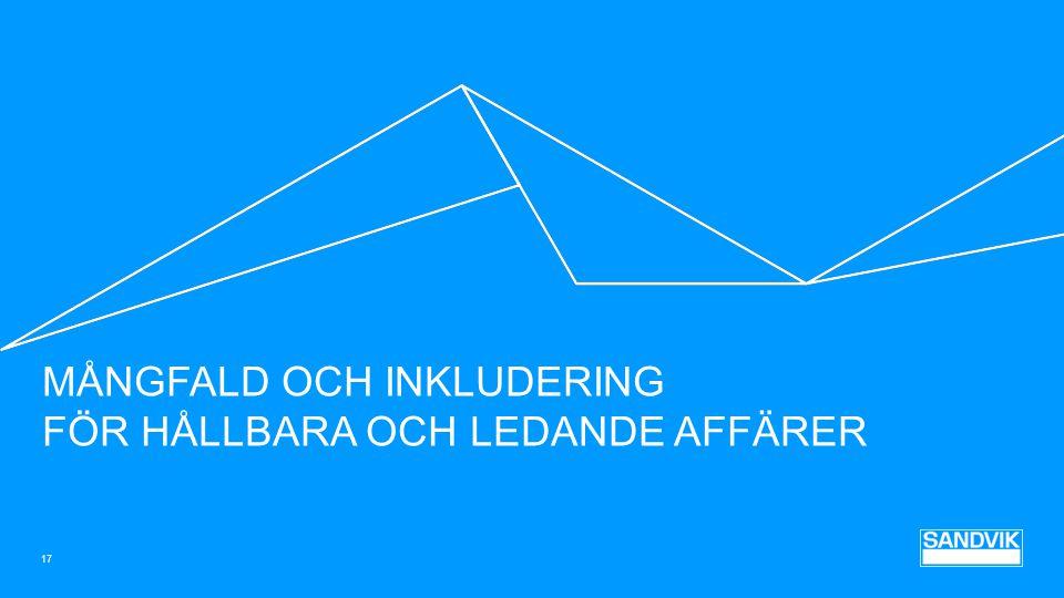MÅNGFALD OCH INKLUDERING FÖR HÅLLBARA OCH LEDANDE AFFÄRER 17