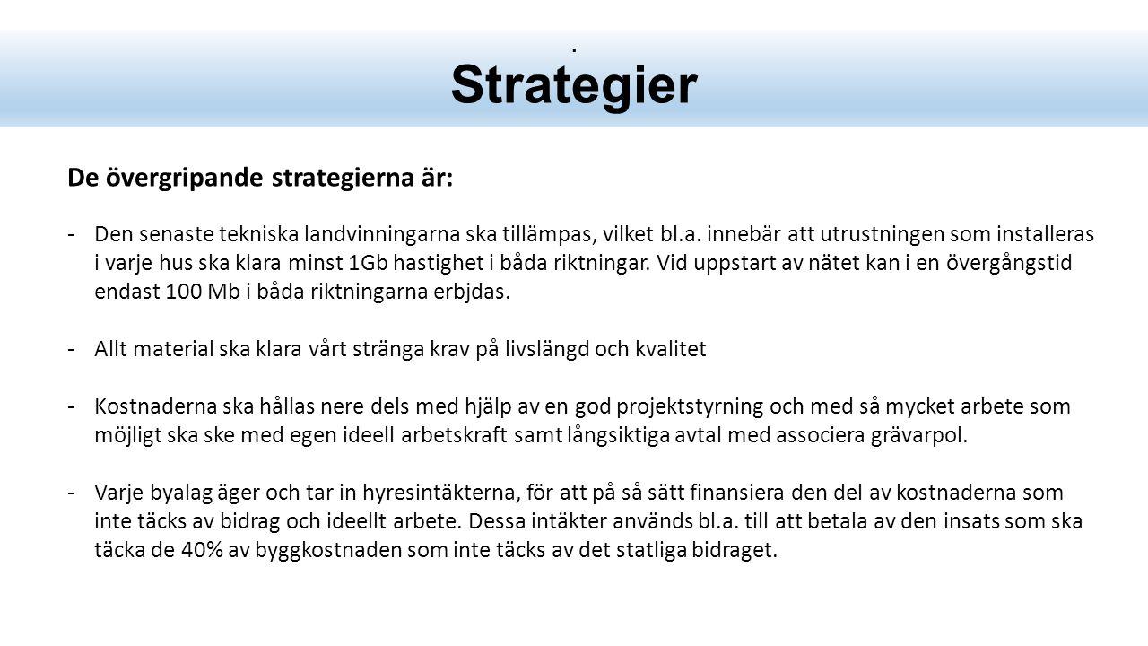 Strategier De övergripande strategierna är: -Den senaste tekniska landvinningarna ska tillämpas, vilket bl.a.