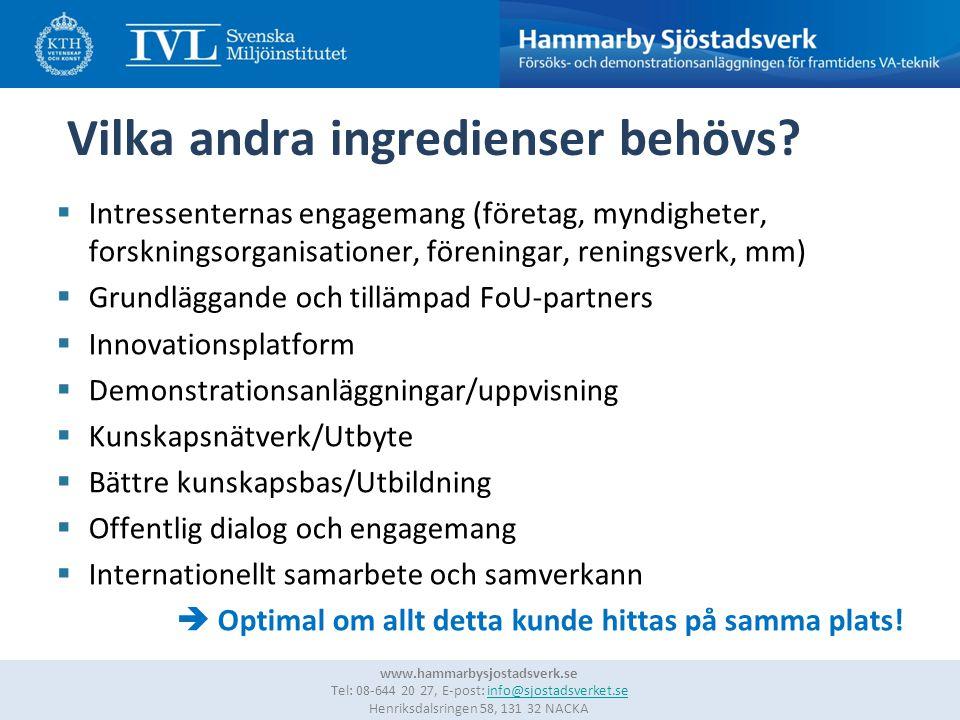 7 www.hammarbysjostadsverk.se Tel: 08-644 20 27, E-post: info@sjostadsverket.se Henriksdalsringen 58, 131 32 NACKAinfo@sjostadsverket.se Vilka andra ingredienser behövs.