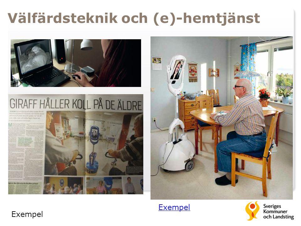 Välfärdsteknik och (e)-hemtjänst Exempel