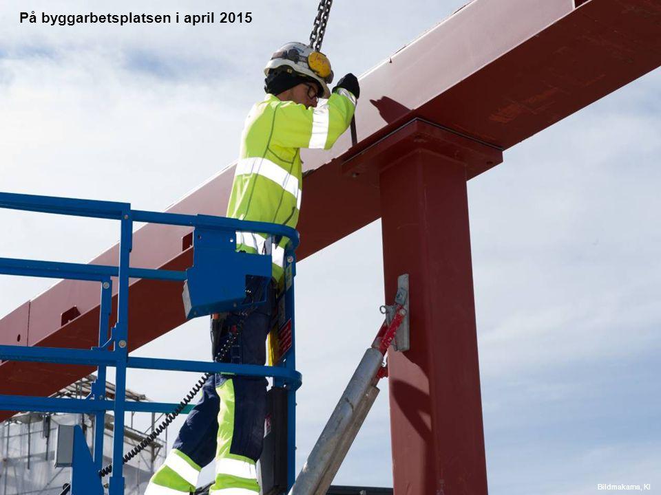 På byggarbetsplatsen i april 2015