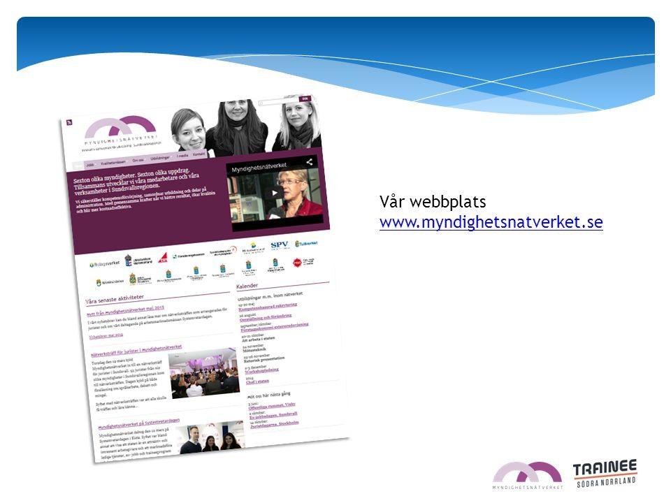 Vår webbplats www.myndighetsnatverket.se