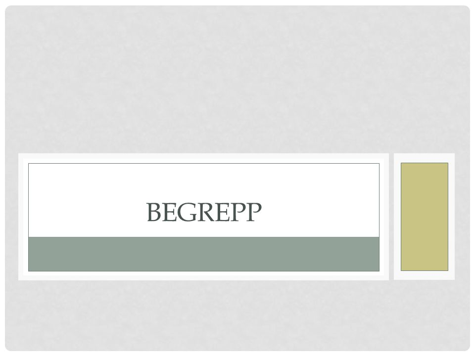 BEGREPP