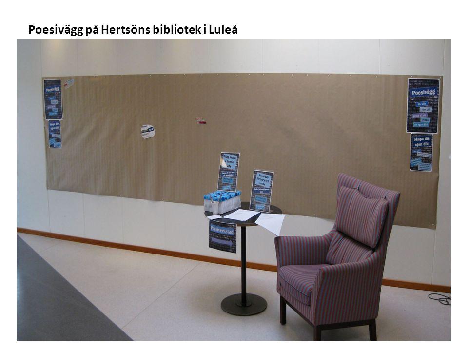 Poesivägg på Hertsöns bibliotek i Luleå
