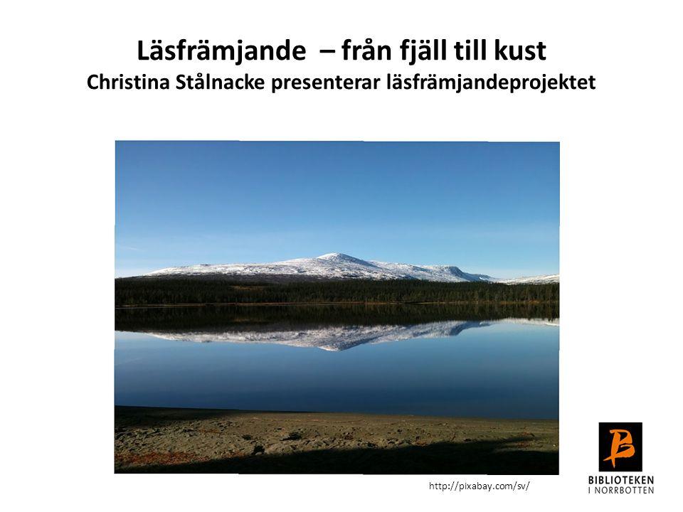 Läsfrämjande – från fjäll till kust Christina Stålnacke presenterar läsfrämjandeprojektet http://pixabay.com/sv/