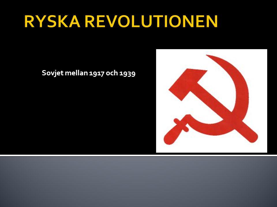 Sovjet mellan 1917 och 1939