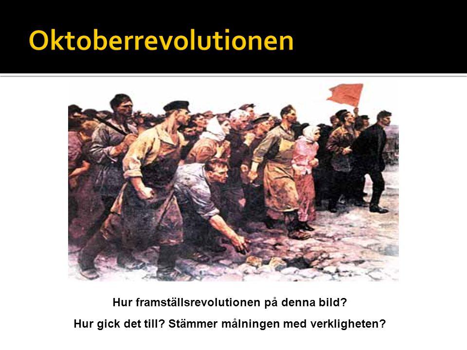 Hur framställsrevolutionen på denna bild? Hur gick det till? Stämmer målningen med verkligheten?