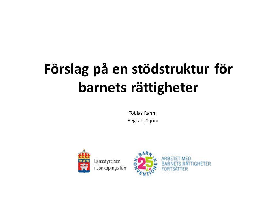 Förslag på en stödstruktur för barnets rättigheter Tobias Rahm RegLab, 2 juni