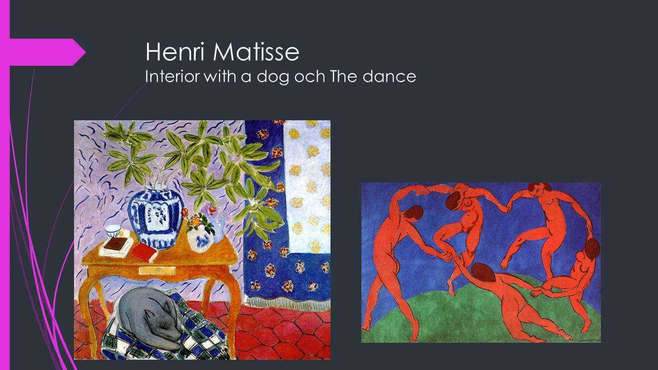 Henri Matisse Interior with a dog och The dance
