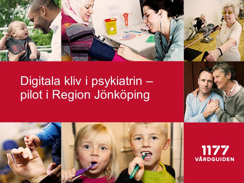 e-tjänster i psykiatrin 1177 vårdguiden och Region Jönköping har på uppdrag av SKL bedrivit ett projekt för att se hur e-tjänster kan öka värdet av vård, egenvård och egen omsorg.