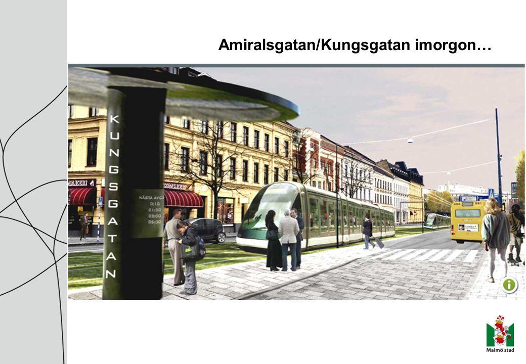 Amiralsgatan/Kungsgatan imorgon…