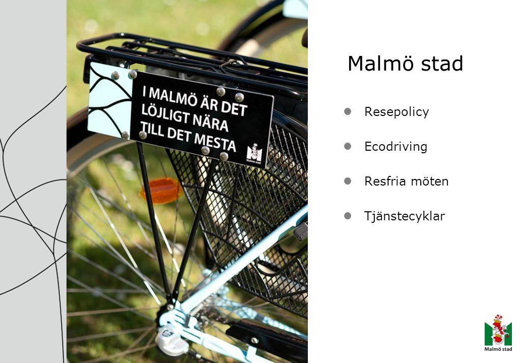 Malmö stad Resepolicy Ecodriving Resfria möten Tjänstecyklar