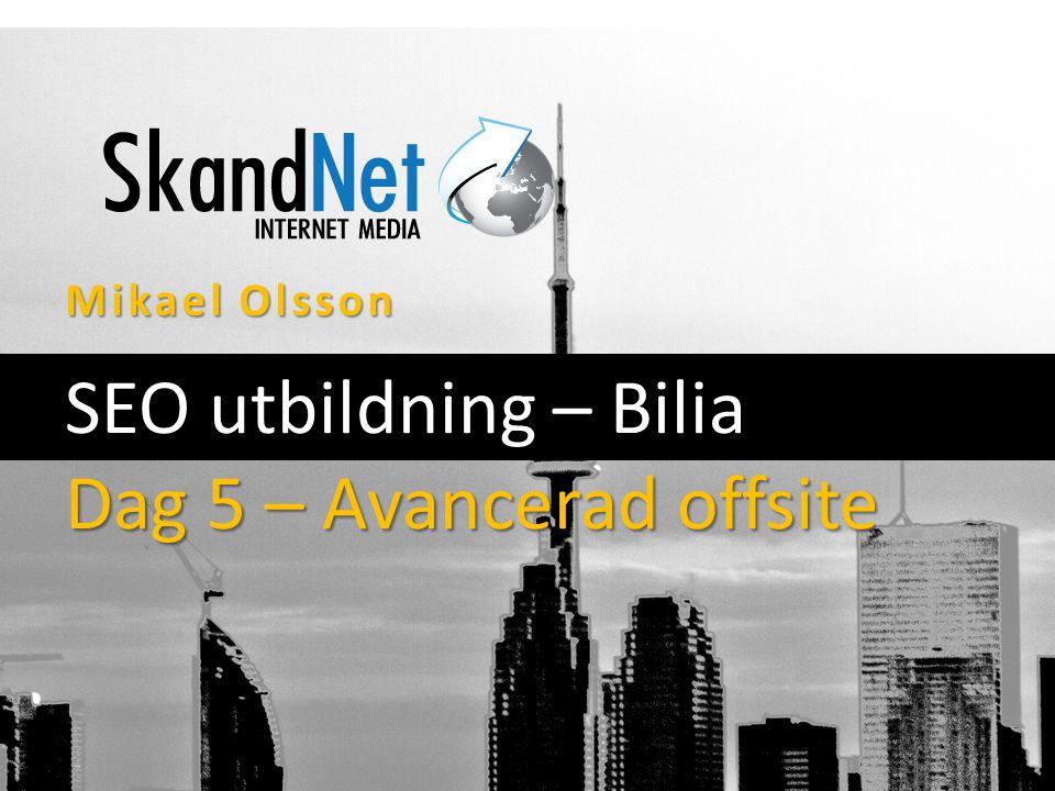 Mikael Olsson SEO utbildning – Bilia Dag 5 – Avancerad offsite