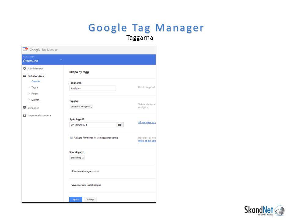 Taggarna Google Tag Manager