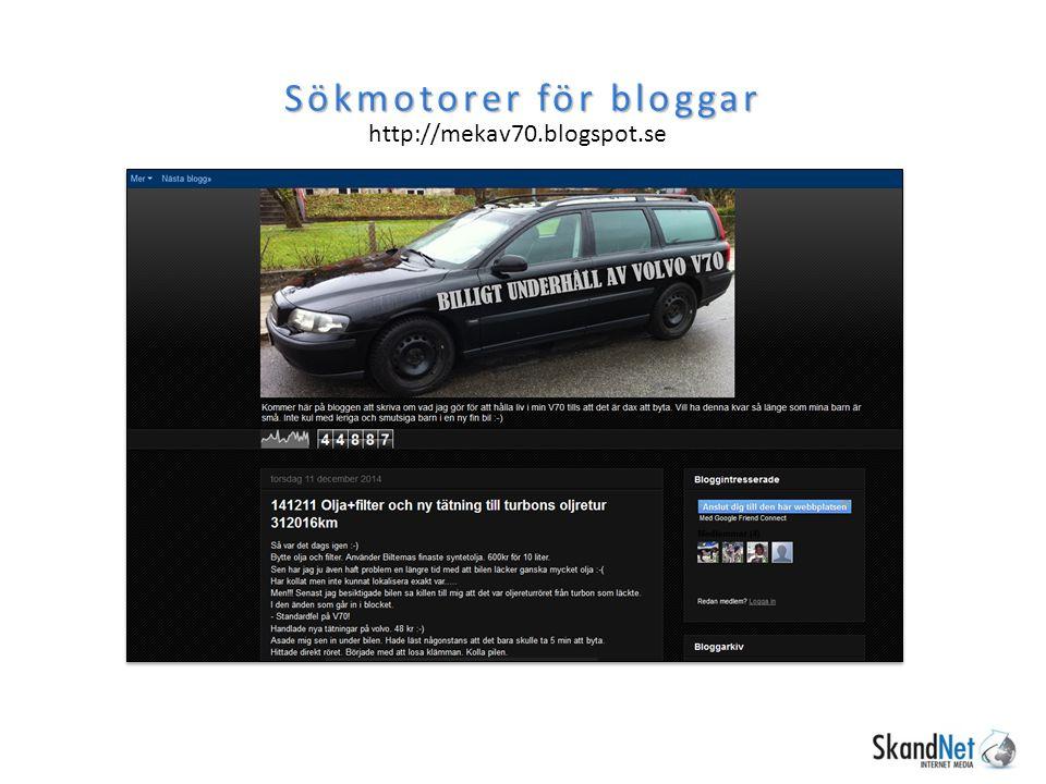 Sökmotorer för bloggar http://mekav70.blogspot.se
