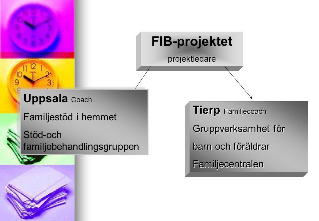 FIB-projektet projektledare Uppsala Coach Familjestöd i hemmet Stöd-och familjebehandlingsgruppen Uppsala Coach Familjestöd i hemmet Stöd-och familjeb