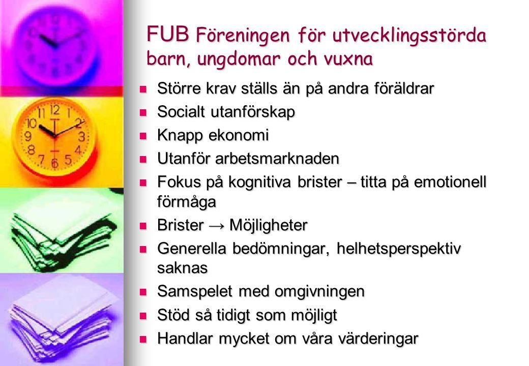 FIB projektet Uppsala kommun Utvecklande av stödet utifrån tre nivåer: 1.