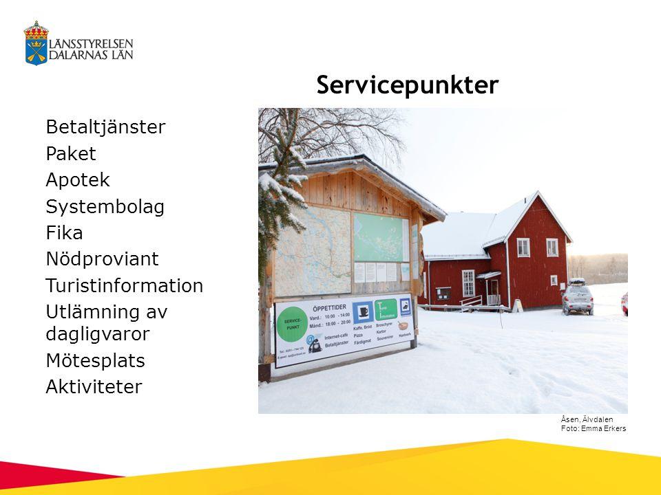 Grangärde, Nyhammar, Sunnansjö och Fredriksberg: Skjuts in till byn, där torgen är servicepunkter Fredriksberg Foto: Emma Erkers