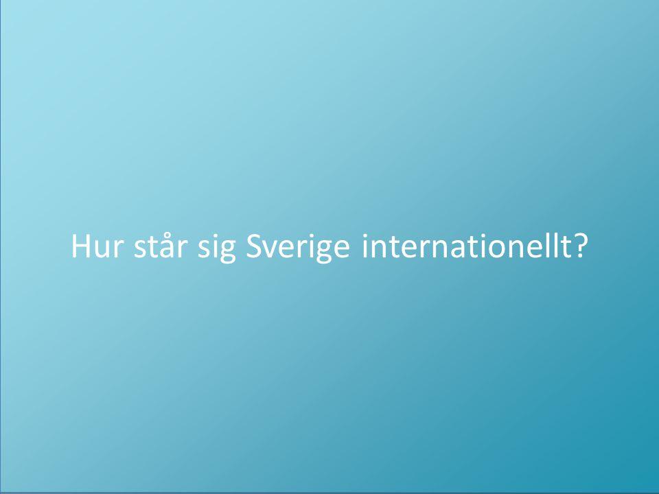Så enkelt som möjligt för så många som möjligt. Hur står sig Sverige internationellt?