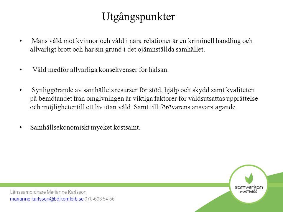 Verksamheten skyddat boende Länssamordnare Marianne Karlsson marianne.karlsson@bd.komforb.se Mobil: 070-693 54 56