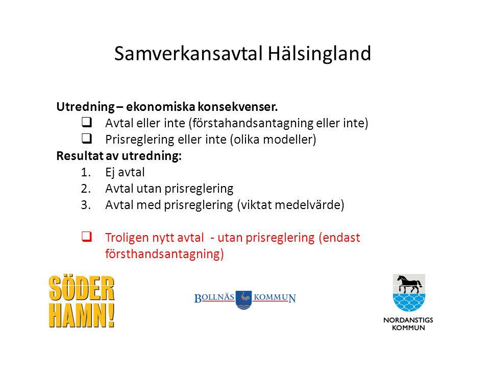 Samverkansavtal Hälsingland Utredning – ekonomiska konsekvenser.
