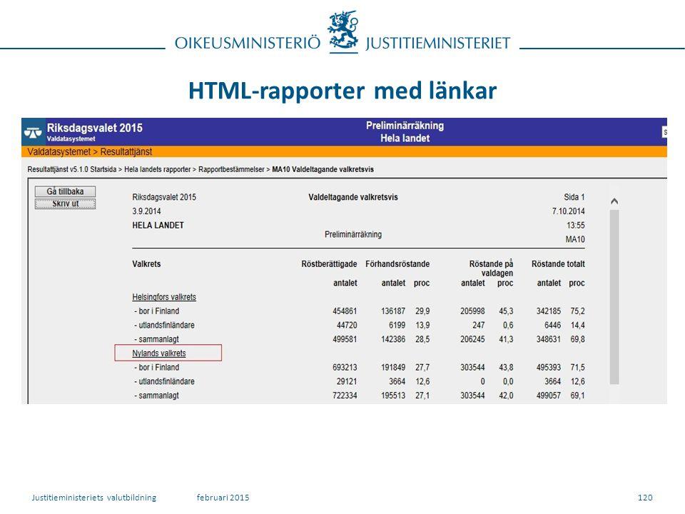 HTML-rapporter med länkar 120februari 2015Justitieministeriets valutbildning