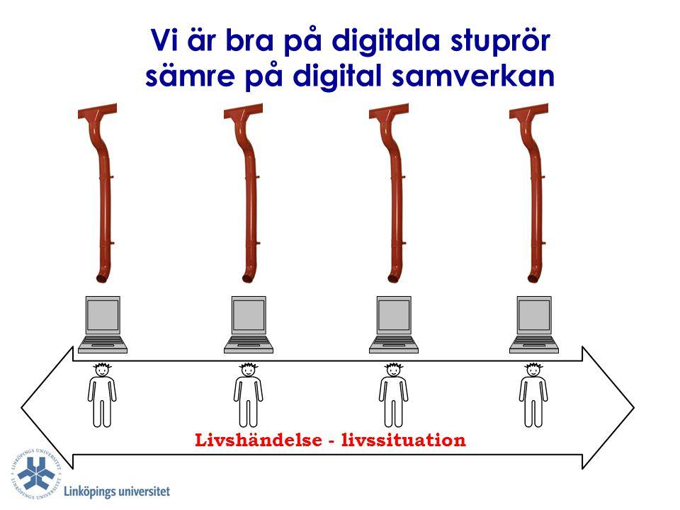 Vi är bra på digitala stuprör Livshändelse - livssituation sämre på digital samverkan