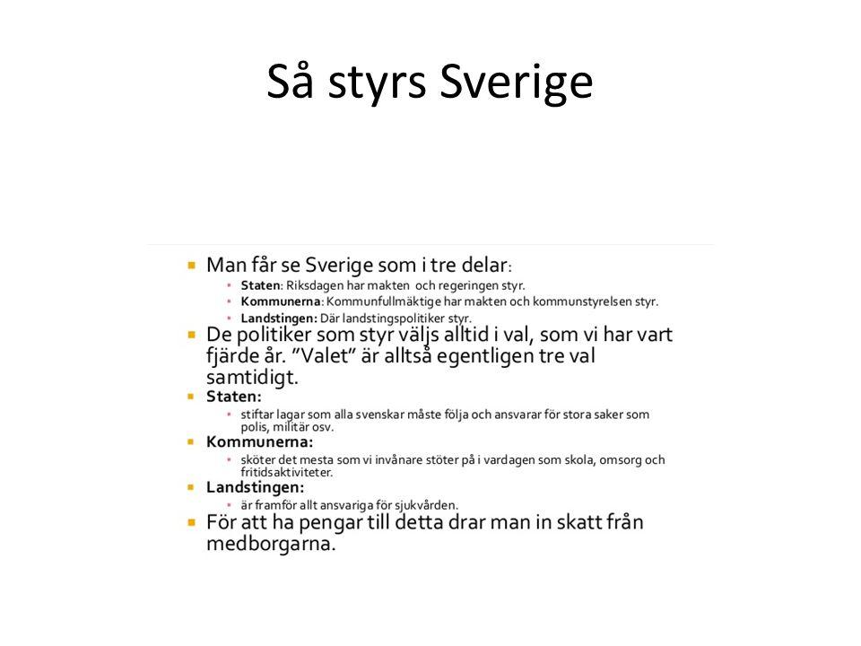 Så styrs Sverige