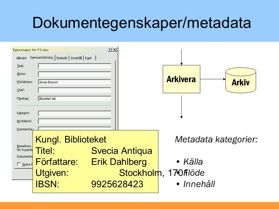 Enkelt meta med data, agna med dokument!