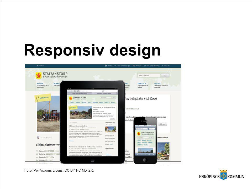 Responsiv design Foto: Per Axbom. Licens: CC BY-NC-ND 2.0.