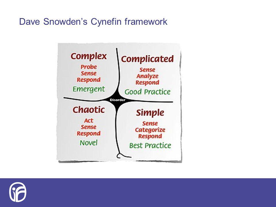 Dave Snowden's Cynefin framework