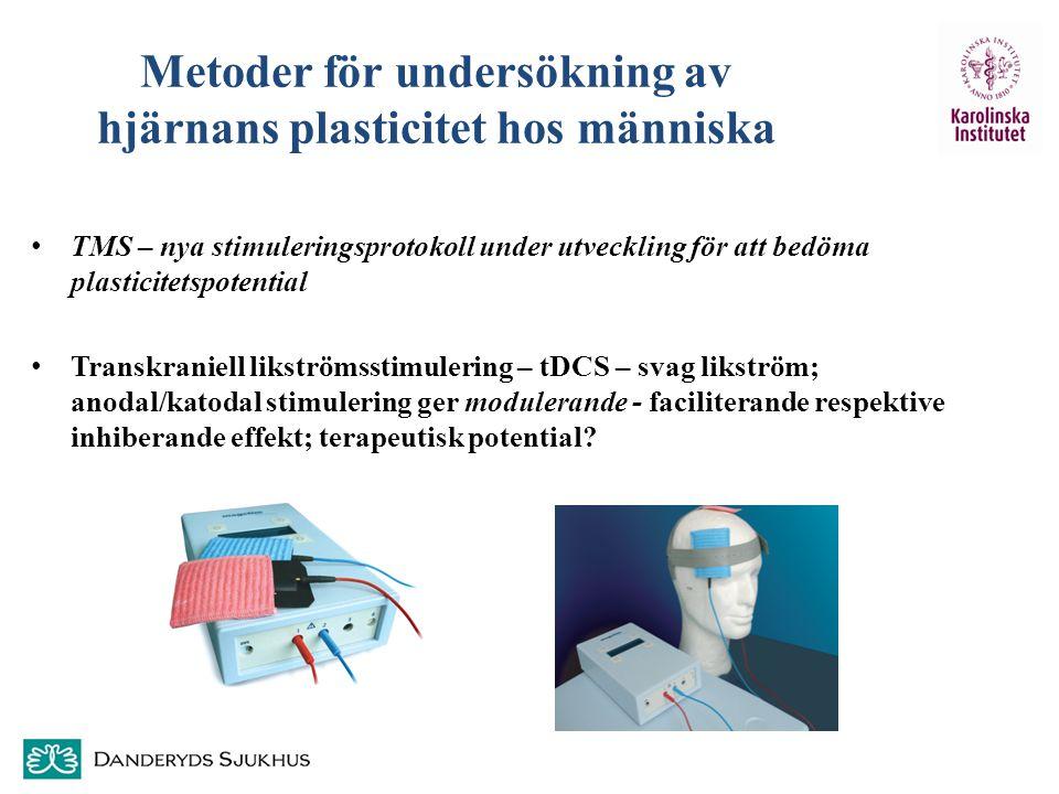 Metoder för undersökning av hjärnans plasticitet hos människa TMS – nya stimuleringsprotokoll under utveckling för att bedöma plasticitetspotential Tr