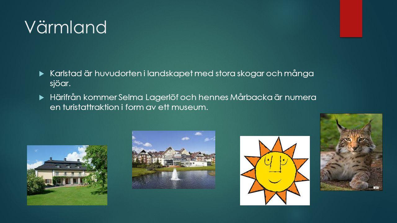 Norrland  En stor del av landets yta men glest befolkat.  Vilka nio landskap finner vi här?