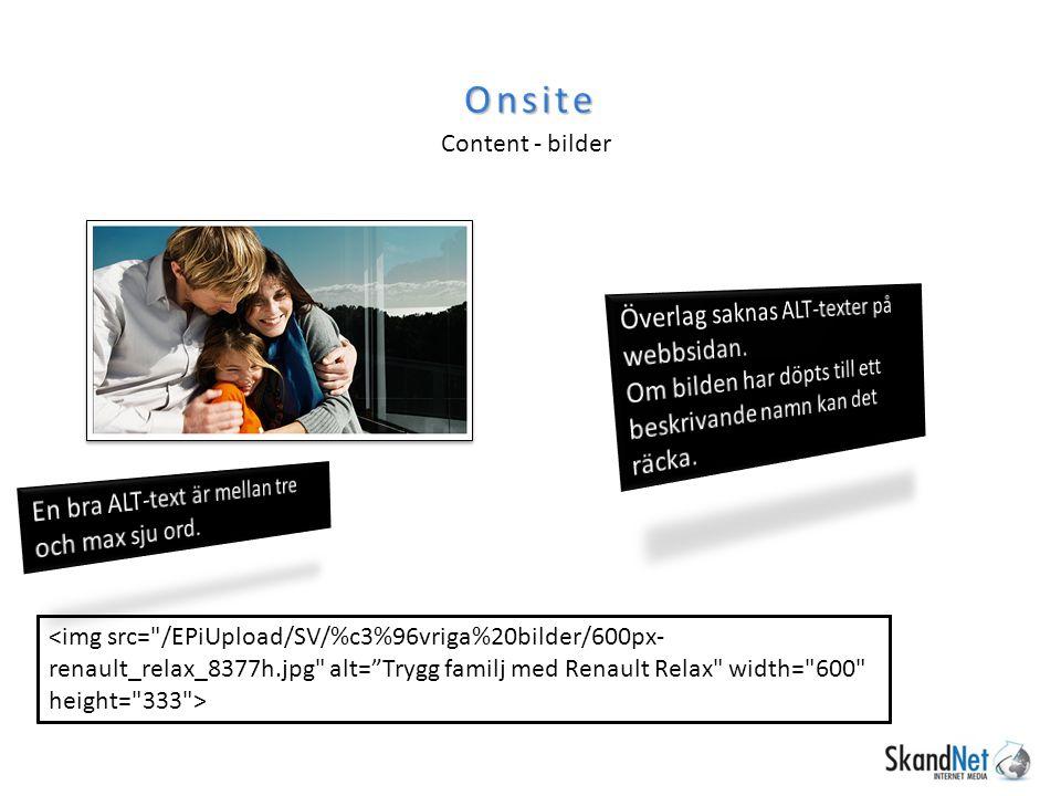 Onsite Content - bilder