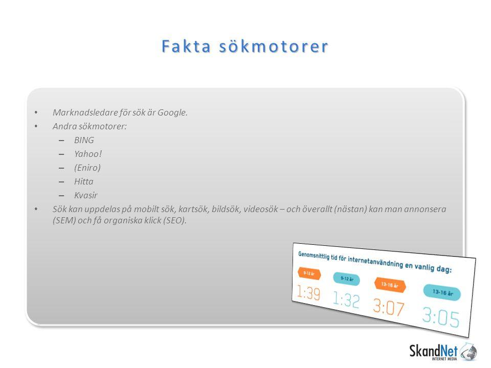 Search Engine Result Page SERP Visa SERP, vad är organiskt sök Vad är titel Vad är description Var visas detta Annonser.